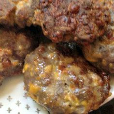 Bacon Cheese Venison Burgers Recipe Main Dishes with cheddar cheese, bacon, venison, garlic, onions
