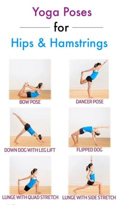 Yoga Poses for Hips and Hamstrings #yoga