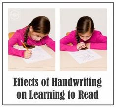 Handwriting and Learning to Read- repinned by @PediaStaff – Please Visit ht.ly/63sNtfor all our pediatric therapy pins