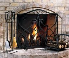 Customed+designed+handmade+wrought+iron+fireplace+by+IronicDecor,+$129.95