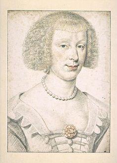 """""""Mademoiselle de Roye de la Rochefoucauld"""" by Daniel Dumoustier (1620-1630)"""