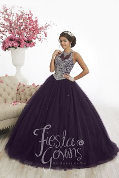 46076be965 Beaded Halter Quinceanera Dress by Fiesta Gowns 56345 – ABC Fashion