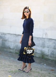 Mandatory Credit: Photo by Silvia Olsen/REX/Shutterstock (5226409bi) Nicole Warne Street Style, Spring Summer 2016, Paris Fashion Week, France - 06 Oct 2015