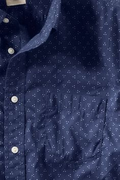 Men's Printed Poplin Shirt from Lands' End Canvas