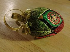 Egg ornament (jcaldico) Tags: christmas holiday ornament ornaments quilted patchwork kimekomi