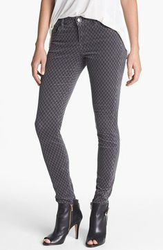 KUT from the Kloth 'Mia' Print Skinny Corduroy Pants (Amelia Grey) available at #Nordstrom