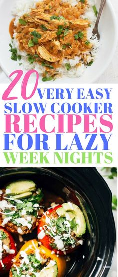 20 Slow Cooker Meals