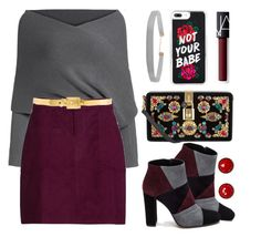 """""""Evening look 👑🍷"""" by xanniee on Polyvore featuring Dolce&Gabbana, Alexander McQueen, Roberto Festa, NARS Cosmetics and Humble Chic"""