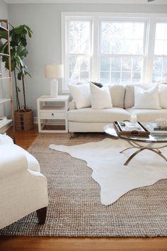 Layered Rug Inspiration Bedroom Carpet, Living Room Carpet, Hallway Carpet, Living Room Area Rugs, Living Room Furniture, Living Room Rugs, Modern Living Room Decor, Living Room Ideas, Dorm Room Rugs