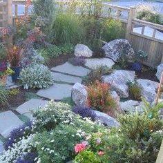Backyard Rock garden landscaping idea.
