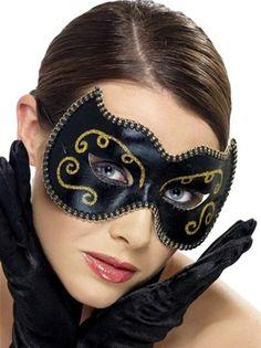 schwarz Katze Maske Halbschuhe Maskerade Mardi Gras Kostüm Zubehör