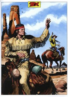 Galeria de Arte: Tex e os Heróis Bonelli - Página 8 Western Comics, Western Art, Old Western Movies, First Superhero, Karl May, Navajo, War Comics, Cowboy Art, Comic Drawing
