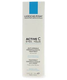 """As you age, the skin under your eyes becomes thinner and allows your purple and blue veins to shine through, which then creates a shadow,"" states Bowe. ""Look for a cream with vitamin C to brighten and also boost collagen production, so your skin, in turn, becomes thicker; lessening the appearance of veins."" Try La Roche-Posay Active C Eyes."