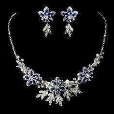 Royal-Blue Stunning Royal Blue Jewelry Set NE 8100