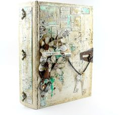 Paper Vs Scissors: Altered Faux Book Box For Ingvild Bolme