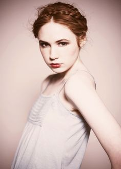 Karen Gillan/ Amy Pond from Doctor Who. So pretty.