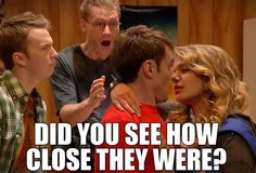 And then they kissed for real in the Christmas special!!