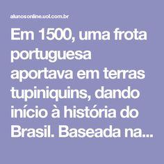 Em 1500, uma frota portuguesa aportava em terras tupiniquins, dando início à história do Brasil. Baseada na visão eurocêntrica, a historiografia brasileira abrange os acontecimentos realizados pós-descobrimento, e trata a vida e os costumes dos primeiros habitantes do Brasil do período pré-cabralino, os indígenas, com irrelevância. Diferente da historiografia mundial (que é dividida em Pré-História, Idade Antiga, Idade Média, Idade Moderna e Idade Contemporânea), a história do Brasil é…