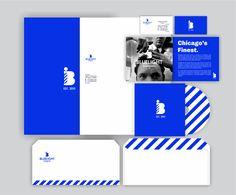 Bluelight Barbering Stationary by Daniel Garcia, via Behance Identity Design, Visual Identity, Logo Design, Print Design, Company Profile Design, Graphic Design Brochure, Corporate Design, Tech Logos, Graphic Design Inspiration