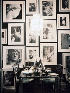 close spacing between photos gallery wall. { going up steps or at top of stairs } white mats & close up of faces..... all our family and friends maybe with quotes & memories written on the mats..