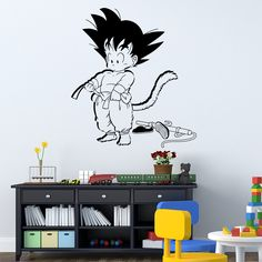 Find More Wall Stickers Information about Art Design Dragon ball Wall Sticker Vinyl Animated Kid Goku 3D movie Cartoon home decor DIY wall decal for kids room,High Quality decorative window decal,China decal supplier Suppliers, Cheap decor wall decals from Big dream on Aliexpress.com