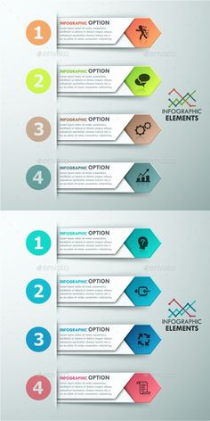Buy Modern Infographics Options Template Colors) by Andrew_Kras on GraphicRiver. Modern infographics options banner with 4 colorful paper arrows. Can be used for web design and workflow layo. Visualisation, Data Visualization, Web Design, Layout Design, Color Photoshop, Powerpoint Design Templates, Presentation Layout, Infographic Templates, Infographics Design