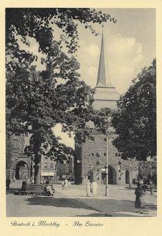 Rostock, Steintor, um 1920
