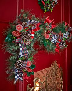 Courtly Christmas Garland by MacKenzie-Childs at Neiman Marcus.