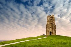 Glastonbury Tor located in Somerset, England