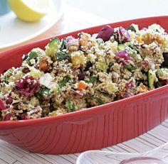 Chopped Vegetable & Couscous Salad with Black Olive Vinaigrette Recipe