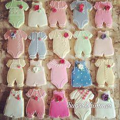 Baby shower sugar cookies ... @sugarshimmercookies