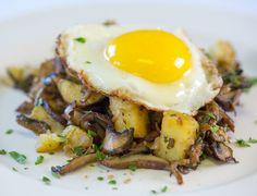 Mushroom Hash and Eggs