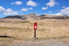 """The Lonely Postbox """"Across the moors on the Isle of Mull"""" @Morag Clinton"""