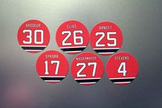 Martin Brodeur Stevens Niedermeyer Magnets - New Jersey Devils - Select a player #none #NewJerseyDevils