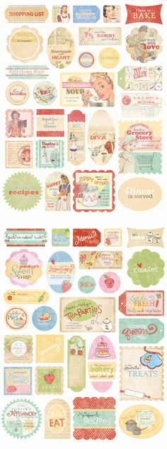 vintage Christmas tags/stickers