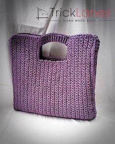 BigShopper Mauve - knitted, crochet, handmade, big, mauve, purple, pink, shopper, bag