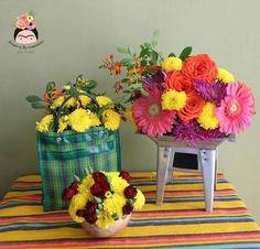 Resultado de imagen para arreglos florales boda mexicanos #Arreglosfloralesparamesa