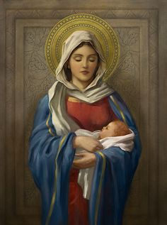 Leading Illustration & Publishing Agency based in London, New York & Marbella. I Love You Mother, Mother Mary, Mother And Child, Hail Holy Queen, Bible Timeline, Images Of Christ, Tu Me Manques, Christian Images, Mary And Jesus