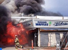 Seaside boardwalk fire: Map and list of businesses impacted  Kohr's Frozen Custard: The apparent epicenter of the fire. • Park Seafood • Three Brother's from Italy Pizza Kupper's French Fries • Jack-N-Bills Bar • The Beach Bar: This business was destroyed by Hurricane Sandy last fall and had not yet reopened. • The Carousel Arcade:  Cont' @ http://www.nj.com/news/index.ssf/2013/09/seaside_boardwalk_fire_list_of_businesses_impacted.html#incart_maj-story-1