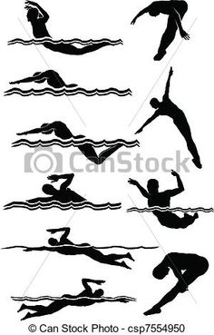 Swimming Illustrations and Clip Art. Swimming royalty free illustrations and drawings available to search from thousands of stock vector EPS clipart graphic designers. Hs Logo, Diving Logo, Swim Team Gifts, Stencil Stickers, Stencils, Mum Tattoo, Swimming Pictures, Swim Mom, Trophy Design