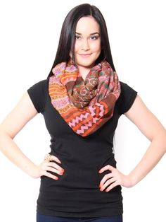 Aztec Infinity Scarf - Scarves - Accessories - Accessories #STYLESFORLESS