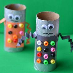 Robot Toilet Paper Roll Craft-gluesticks and gumdrops