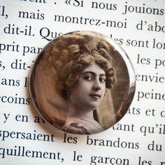 Badge vintage Sincères affections - Assuna vintage crafts