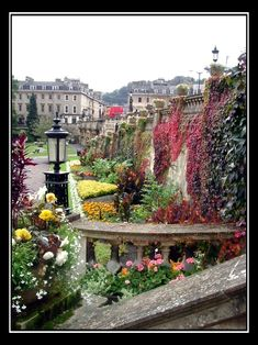 City of Bath in Somerset, England - Parade Gardens.