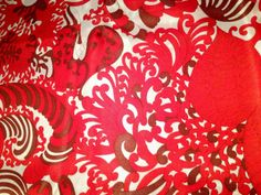 60s Swedish vintage viscose fabric with a mod retro pattern. Bright colors. Unused from bolt