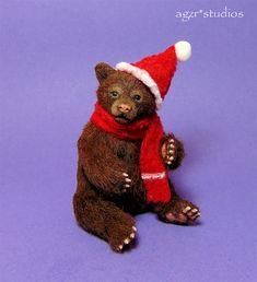 1:12 Scale Dollhouse Bear Cub available on ebay: Miniature Dogs, Bear Cubs, Dollhouse Miniatures, Studios, Scale, Teddy Bear, Birds, Toys, Artist