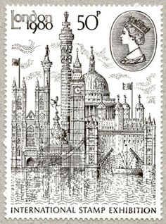 De vader van John Patterson is een postbode, daardoor koos ik dit Londense postzegeltje.                                                                                                                                                      もっと見る