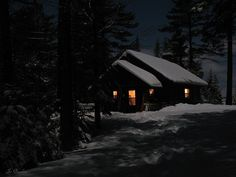 """The warm glow in the windows beckons to you....""""come in out of the cold and rest a spell""""...."""