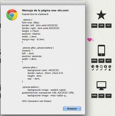 OneDiv iconos hechos completamente con html y css3