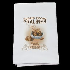 Louisiana+Lifestyle+Pecan+Pralines+Kitchen+Tea+Towel